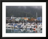 Harbor in the Coastal Town of Seward  Alaska  USA