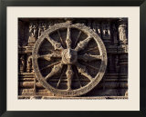 Carved Chariot Wheel  Sun Temple Dedicated to the Hindu Sun God Surya  Konarak  Orissa State
