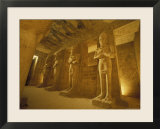 Interior of Statues at the Temple of Ramses II in Abu Simbel  Egypt