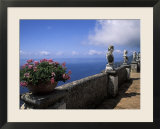 Belvedere of Infinity at the Villa Cimbrone on the Amalfi Coast in Ravello  Italy