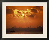 Golden Horn and Istanbul&#39;s Skyline at Sunset  Turkey