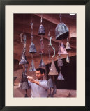 Bell Maker Paolo Soleri in His Workshop at Scottsdale  Az