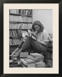 French Actress Barbara Laage  Alone in Her Apartment Reading