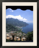 Homes and Sea in Ravello  Italy from Hotel Polumbo