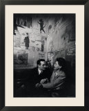 French Couple at Cafe Tango du Chat in the Latin Quarter  Paris