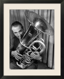 Portrait of Vincent Vanni  Playing the Tuba in the New York Philharmonic