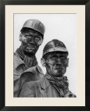 Two Grimy Faced German Coal Miners Posing Resolutely Outside Coal Mine in the Ruhr Valley