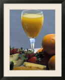 Orange Juice and Breakfast Fruits in a Hotel in Tel Aviv  Israel