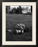 American Soldier Kissing English Girlfriend on Lawn in Hyde Park  Favorite Haunts of US Troops