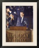 Politician Richard Nixon Waving From Platform at Republican National Convention
