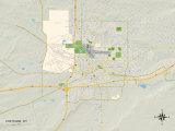 Political Map of Cheyenne  WY