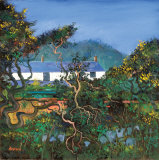 COTTAGES WITH GORSE BUSHES