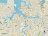 Political Map of Portsmouth  VA