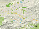 Political Map of Thousand Oaks  CA