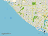 Political Map of Huntington Beach  CA