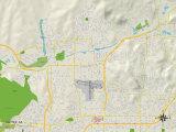 Political Map of Santee  CA