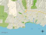 Political Map of Santa Cruz  CA