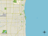Political Map of Kenosha  WI
