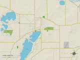 Political Map of Twin Lakes  WI