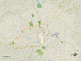 Political Map of Athens  GA