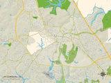 Political Map of Williamsburg  VA