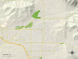 Political Map of Yucaipa  CA