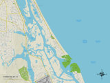 Political Map of Ponce Inlet  FL