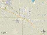 Political Map of Merced  CA