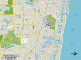 Political Map of Pompano Beach  FL
