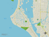 Political Map of Siesta Key  FL
