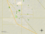 Political Map of Turlock  CA