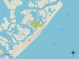 Political Map of Brigantine  NJ