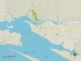 Political Map of Ocean Springs  MS