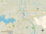 Political Map of Shreveport  LA