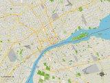 Political Map of Detroit  MI