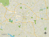 Political Map of Raleigh  NC