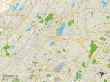 Political Map of Parsippany  NJ