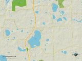 Political Map of Whitmore Lake  MI