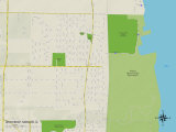Political Map of Winthrop Harbor  IL