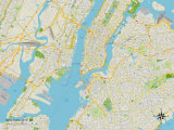 Political Map of New York City  NY