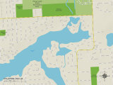 Political Map of Wolverine Lake  MI