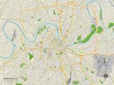 Political Map of Nashville  TN