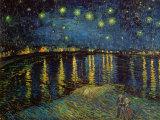 Nuit étoilée, Arles, 1888 Reproduction d'art par Vincent Van Gogh