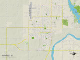 Political Map of Ponca City  OK