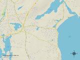 Political Map of Narragansett Pier  RI