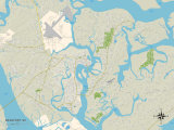 Political Map of Beaufort  SC
