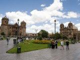 Tourists at a Town Square  Cuzco  Cusco Province  Cusco Region  Peru