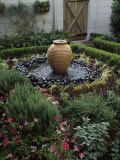 Decorative Urn in a Garden  Savannah  Chatham County  Georgia  USA