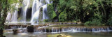 Waterfall in a Forest  Cuisance Waterfall  Jura  Franche-Comte  France
