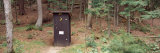Outhouse in a Forest  Adirondack Mountains  New York State  USA